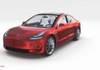 Tesla 3 Interior Beautiful Tesla Model 3 with Interior and Chassis Pack Model Tesla