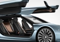 Tesla and China New Quant E Sportlimousine Side Doors Open