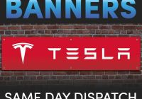 Tesla Bust A Nut Beautiful Sign Making Best Quality Pvc Vinyl Colour Banners