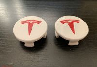 Tesla Font Unique Tesla Wheel Cap with Insert and Customizable Plate by