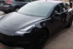 Beautiful Tesla Model 3 Black Rims