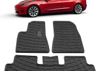 Tesla Model 3 Vinyl Wrap Luxury 3 Piece A Set Heavy Duty 2d Floor Mats Black Rubber
