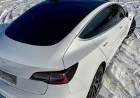 Tesla Model 3 Vinyl Wrap New Tesla Model 3 Glass Roof