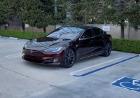 Tesla Model S Back Beautiful Tesla Model S with Cryptic Deep Crimson Paint Spotted at
