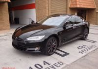 Tesla Model S Elegant Tesla Model S P85 Satin Pearl White Vinyl Wrap by 3m