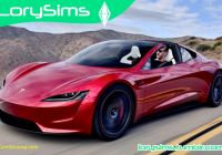 Tesla Roadster New Tesla Roadster 2020 for the Sims 4