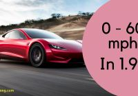 Tesla Roadster New Tesla Roadster — the Quickest Car In the World 0 to 60 In