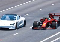 Tesla Roadster top Speed Awesome Watch Tesla Roadster Race Ferrari formula 1 Car Simulated Video