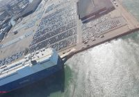 Tesla Summon New Latest Aerial Photos Of the Port Of Sf Show Thousands Of