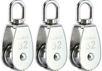 Tesla to Microtesla New Details About 304 Stainless Steel 3pack Crane Swivel Hook Single Pulley Roller Loading M32