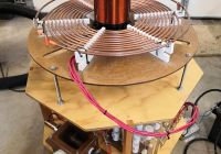 """Tesla tower Luxury Tesla Coil 1 4"""" Primary Coil Supports with Strike Ring"""