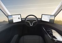 Tesla Truck Interior Beautiful Elon Musk Reveals Tesla S Electric Semitruck
