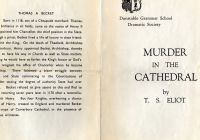 Tesla Unbreakable Glass Elegant Dunstable School Murder In the Cathedral 1963 Outside 016
