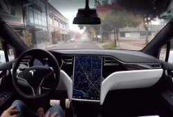 Inspirational Tesla with Autopilot