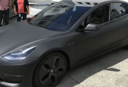 Awesome Tesla without Hubcaps