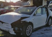 Tesla X Lovely This Tesla Model X Accident Highlights the Vehicle S 5 Star