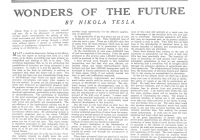 "Tesla Z Lovely the Tesla Collection"" ""wonders the Future"" Colliers"