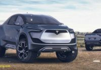Teslamodel Awesome Tesla Model P Pickup Truck Rendered to Life
