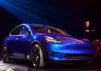 Teslamodel Beautiful Tesla Model Y A New S U V is Unveiled Amid Mounting