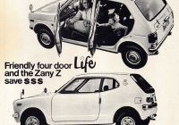 Used Cars for Sale Bali Fresh 1973 Honda Life 5 Door & Z 3 Door Aussie original Magazine