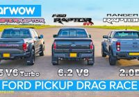 Used ford Luxury ford F 150 Raptor and Ranger Raptor Drag Race