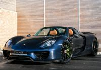 Used Porsche Cayman New Our Midnight Blue Metallic Porsche 918 Spyder Factory