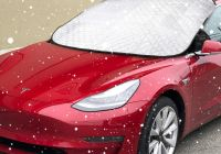 Why Tesla Truck Glass Broke Elegant Basenor Model 3 Winter Windshield Cover Snow & Ice Cover Front Sun Shade Protector for Tesla Model 3
